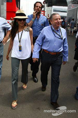 Jean Todt, FIA president en vriendin Michelle Yeoh
