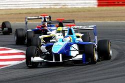 Roberto Merhi leads Nigel Melker