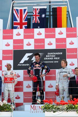 Podium: 1. Mark Webber, 2. Lewis Hamilton, 3. Nico Rosberg