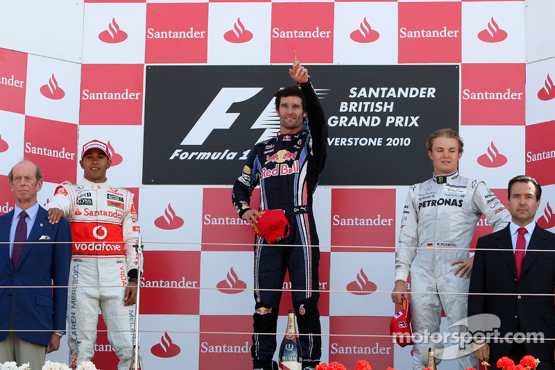 2010 - 1. Mark Webber, 2. Lewis Hamilton, 3. Nico Rosberg
