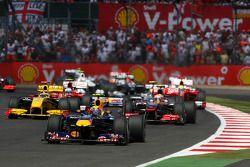 Mark Webber, Red Bull Racing líder al inicio de la carrera