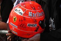 De oude helm van Michael Schumacher, Mercedes GP