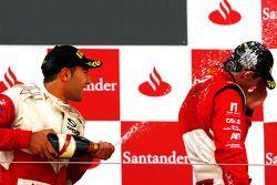 Daniel Morad fête son succès sur le podium avec Alexander Rossi