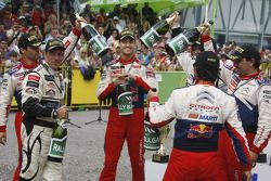 Winners Sébastien Loeb and Daniel Elena, second place Daniel Sordo and Marc Marti third place Petter