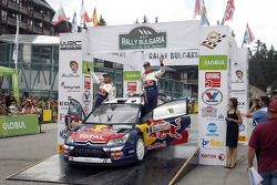 Podium: fourth place Sébastien Ogier and Julien Ingrassia, Citroën C4 WRC, Citroën Junior Team