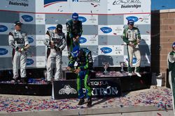 P class podium: class and overall winners David Brabham and Simon Pagenaud, second place Emanuele Pi