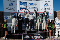 PC class podium: class winners Scott Tucker and Christophe Bouchut, second place Gunnar Jeannette and Christian Zugel, third place Alex Figge and Max Hyatt