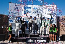 PC class podium: class winners Scott Tucker and Christophe Bouchut, second place Gunnar Jeannette an