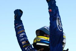 Mark Winterbottom celebrates takes out race two of the Townsville 400 for Ford Performance Racing