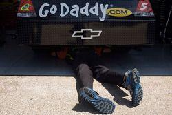 Hendrick Motorsports Chevrolet team member at work