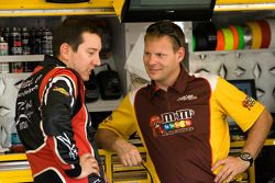 Kyle Busch, Joe Gibbs Racing Toyota and crew chief Dave Rogers