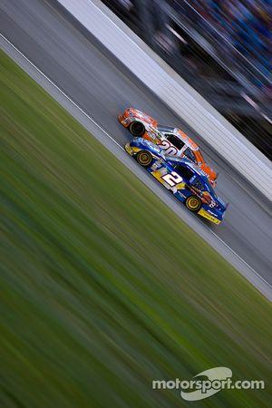 Kurt Busch, Penske Racing Dodge and Joey Logano, Joe Gibbs Racing Toyota