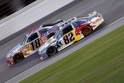Kyle Busch, Joe Gibbs Racing Toyota and Scott Speed, Red Bull Racing Team Toyota