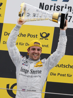 Podium: race winner Jamie Green, Persson Motorsport AMG Mercedes C-Klasse
