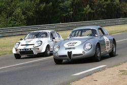 #58 Alfa Romeo Giulietta SZT 1962: Pascal Perrier, Benjamin De Fortis, Vincent Lasser et #74 Mini Marcos 1965: Rémy Julienne, Jean-Pierre Door, François Manjard