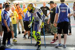 Valentino Rossi, Fiat Yamaha Team test na ongeval