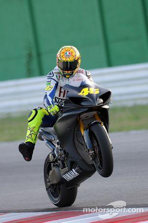 Valentino Rossi, Fiat Yamaha Team, beim ersten Test nach seinem Beinbruch