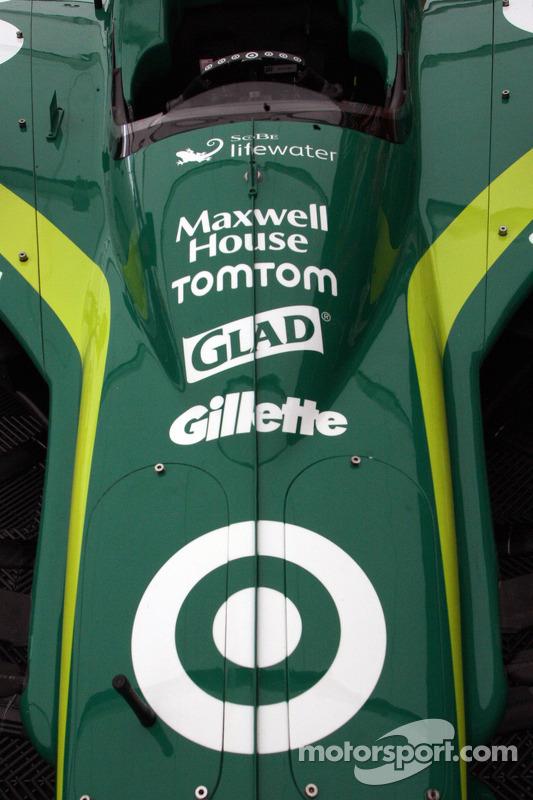 Detail van de auto van Dario Franchitti, Target Chip Ganassi Racing