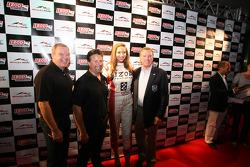La fête de John Street : Al Unser Jr., Michael Andretti a Johnny Rutherford
