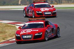 Audi R8 safety cars sur la piste