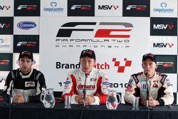 Qualifying 2 press conference: pole winner Kazim Vasiliauskas, second place Philipp Eng, third place