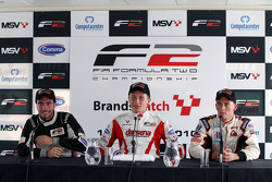 Qualifying 2 press conference: pole winner Kazim Vasiliauskas, second place Philipp Eng, third place