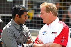 Karun Chandhok, Hispania Racing F1 Team, talks to Jonathan Palmer CEO MotorSport Vision