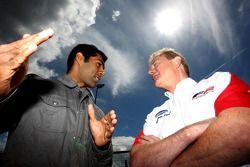 Karun Chandhok, Hispania Racing F1 Team, with Jonathan Palmer CEO MotorSport Vision