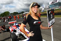 Formula Two grid girl for Jolyon Palmer