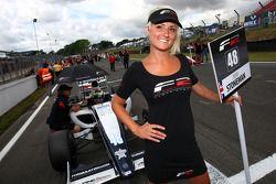 Formula Two grid girl for pole sitter Dean Stoneman