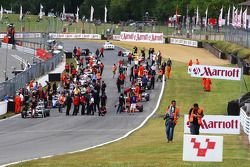 The grid is formed for race 1