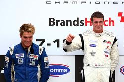 Podium: race winner Dean Stoneman, second place Jack Clarke