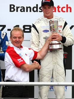 Podium: race winner Dean Stoneman