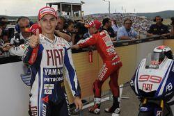 Pole winner Jorge Lorenzo, Fiat Yamaha Team
