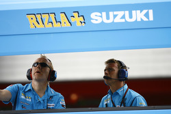 Rizla Suzuki MotoGP pit wall