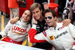 Sergey Afanasiev; Nicola de Marco et Ricardo Teixeira à la session d'autographes de la F2