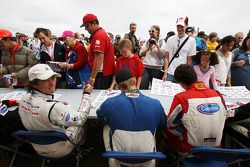 Ivan Samarin in the Formula Two drivers autograph session