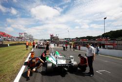 Mihai Marinescu on the race 2 grid