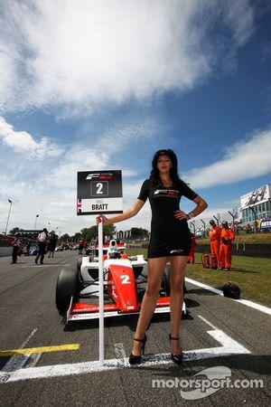 Formula Two grid girl for Will Bratt