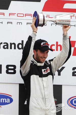 Podium: race winner Philipp Eng