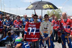 Alex Tagliani, FAZZT Race Team with his wife Bronte