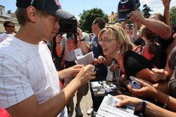 Sebastian Vettel, Red Bull Racing, meets fans