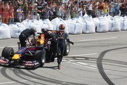 Sebastian Vettel, Red Bull Racing en démonstration avec sa F1