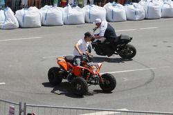 Sebastian Vettel, Red Bull Racing, on a quad