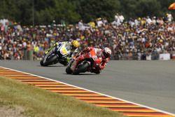 Casey Stoner, Ducati Marlboro Team and Valentino Rossi, Fiat Yamaha Team