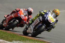 Valentino Rossi, Fiat Yamaha Team and Casey Stoner, Ducati Marlboro Team