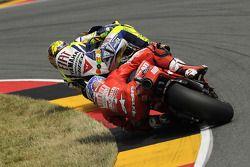 Valentino Rossi, Fiat Yamaha Team en Casey Stoner, Ducati Marlboro Team