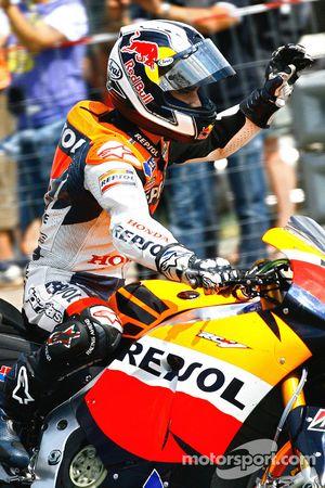 Race winner Dani Pedrosa, Repsol Honda Team celebrates
