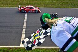 #99 GAINSCO/ Bob Stallings Racing Chevrolet Riley: Jon Fogarty, Alex Gurney takes the checkered flag