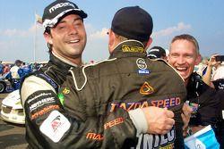 GT winner Jonathan Bomarito celebrates